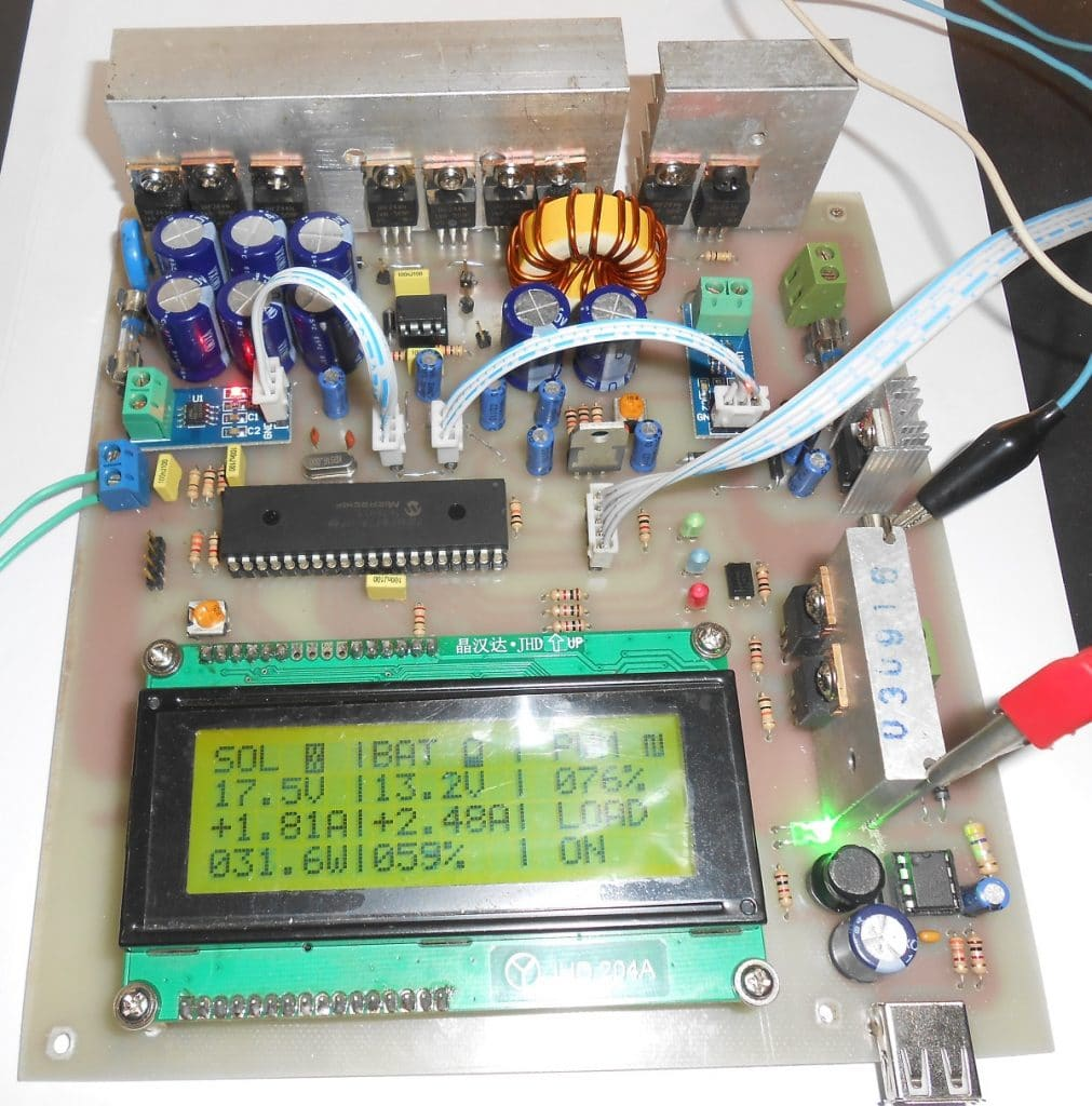 MPPT solar charge controller circuit