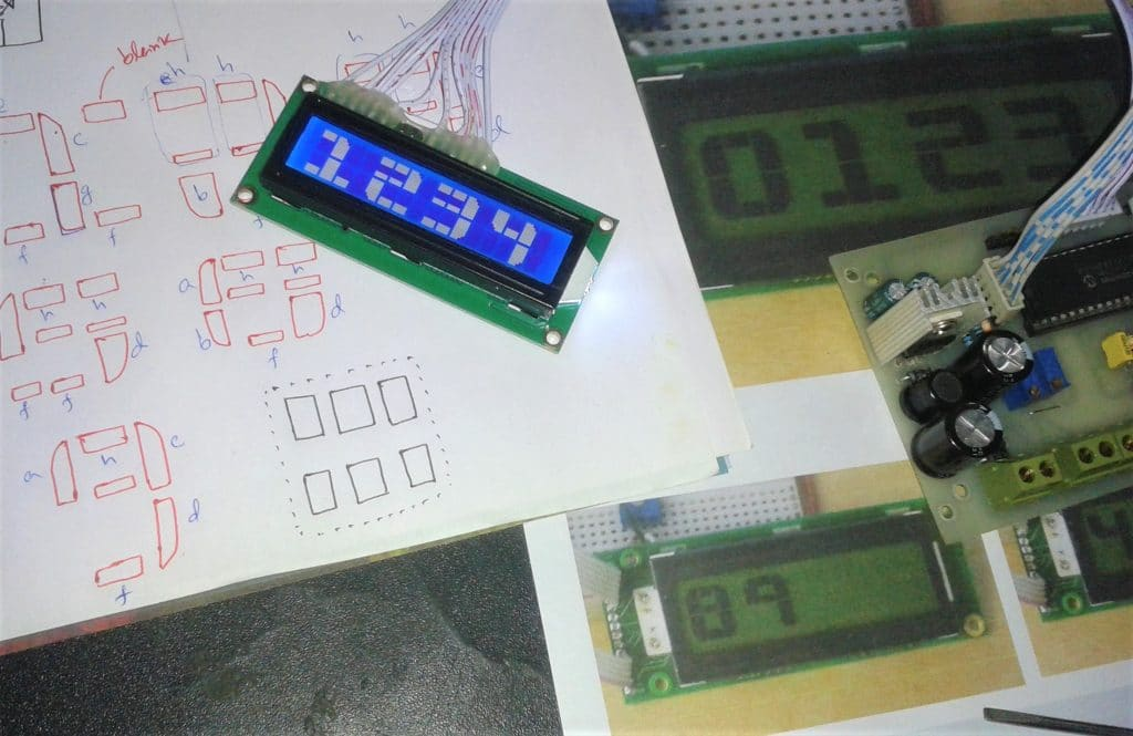 BIG Font display with 16x2 LCD