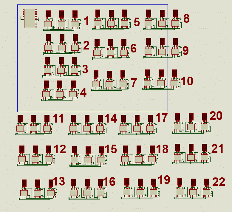 7-segment with shift register 74HC595