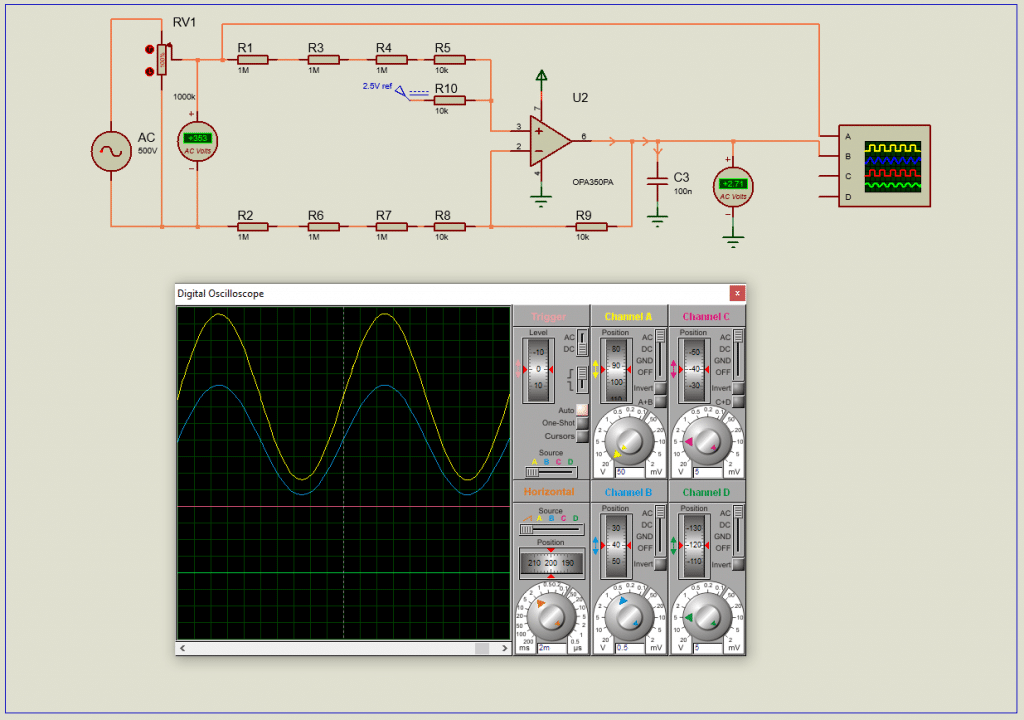 high voltage AC with Op-Amp