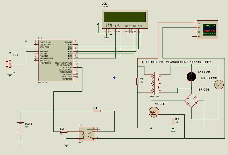 Regulate AC loads using PWM circuit diagram