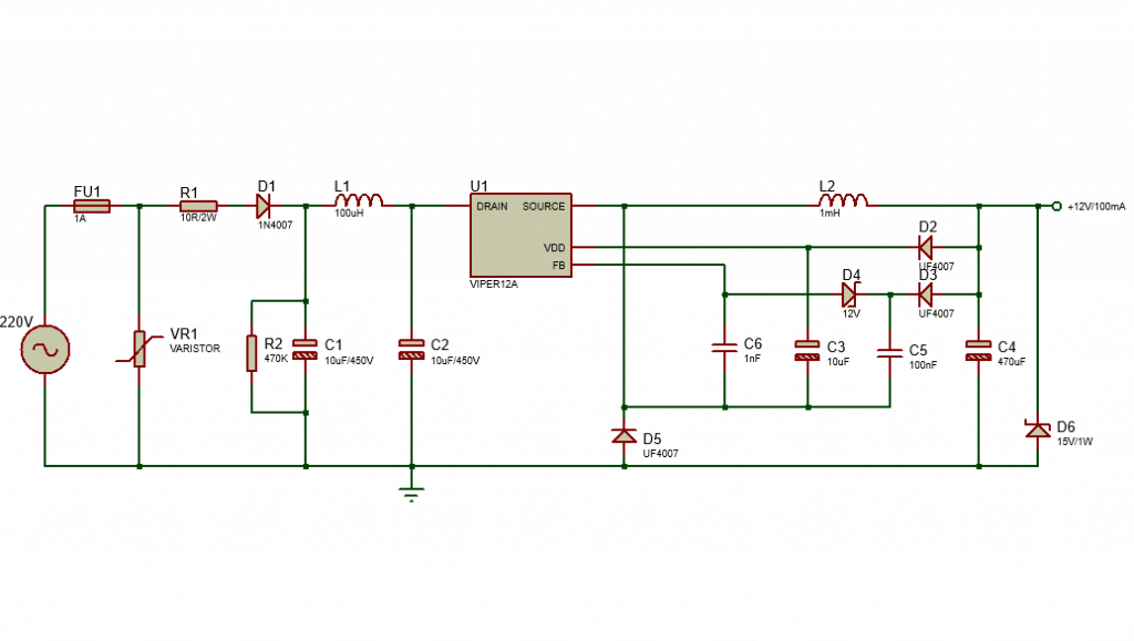 transformer less power supply with Viper12A