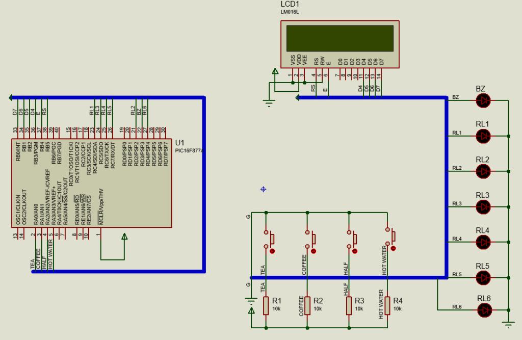coffee vending machine circuit diagram
