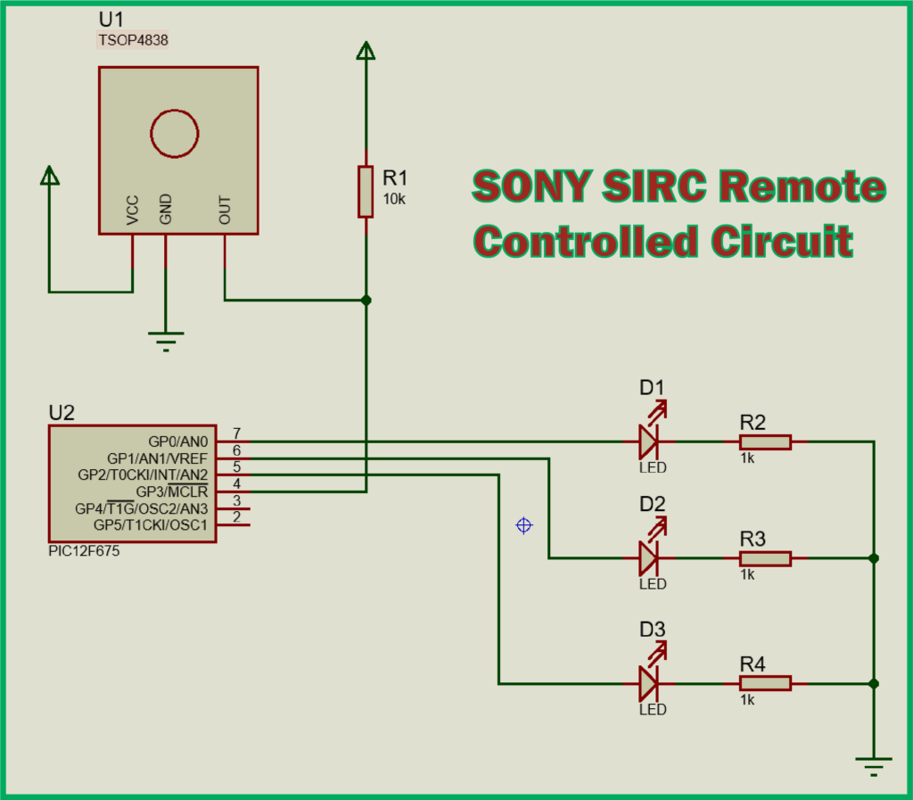 SONY SIRC Remote Controlled