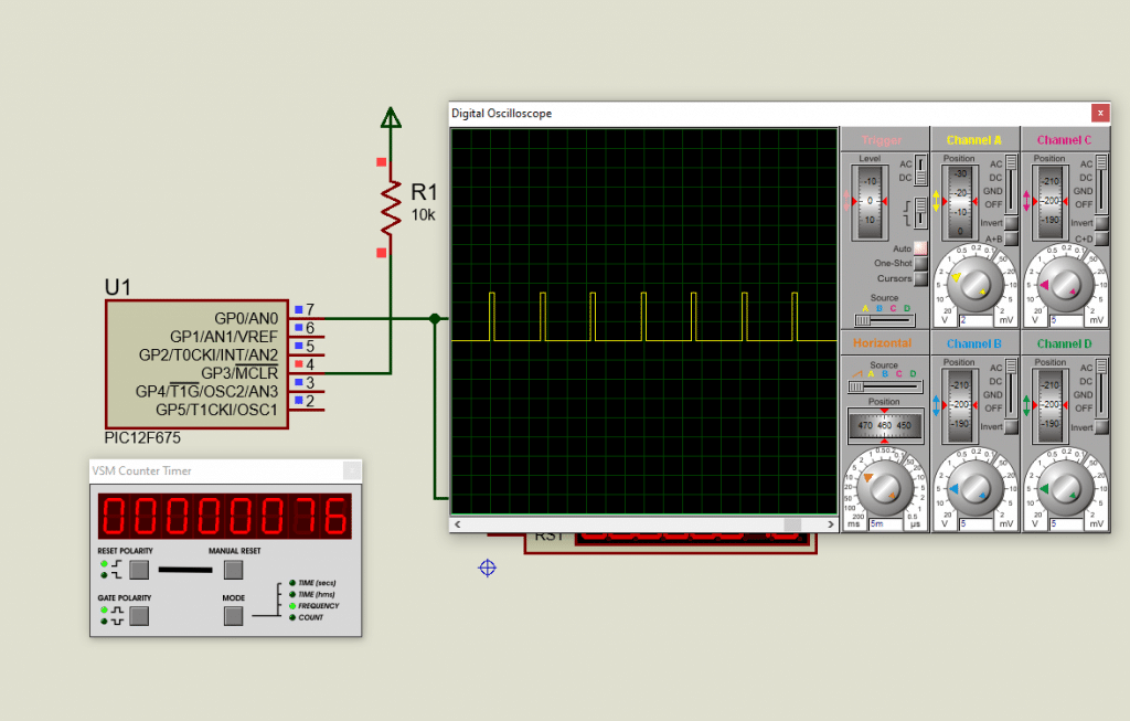 PWM output from PIC12F675