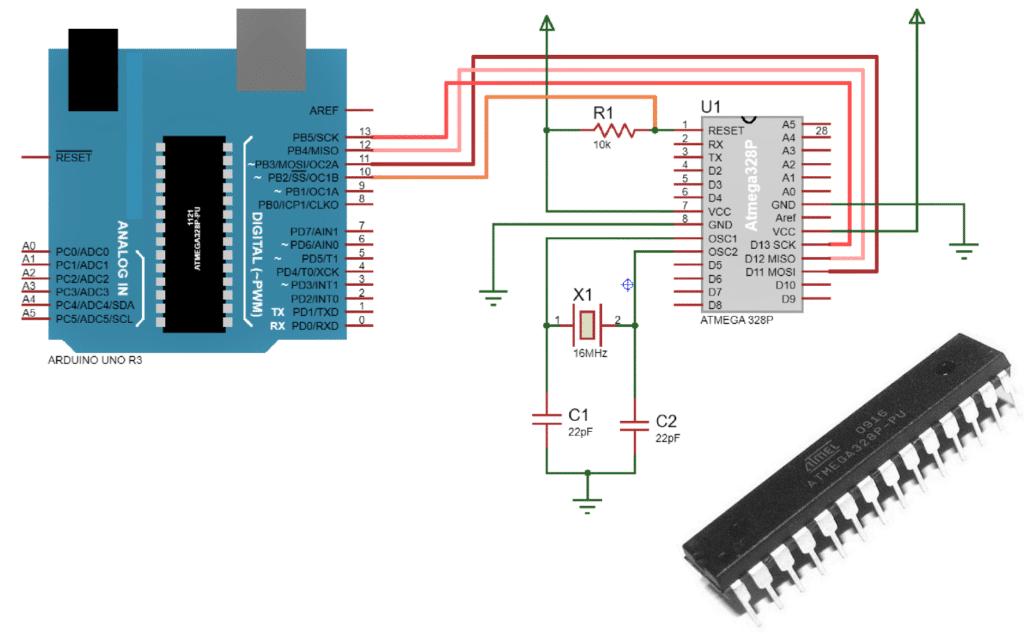 arduino bootloader circuit diagram