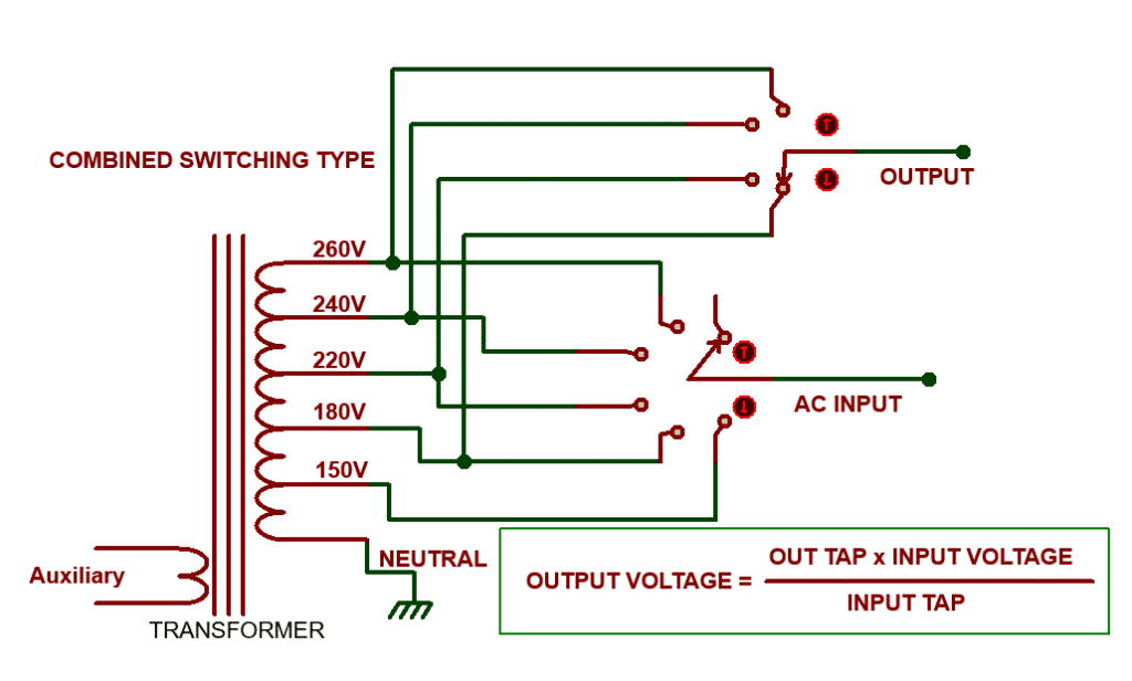 voltage stabilizer combined switching transformer