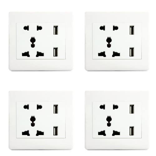 combined socket for power outlet at home