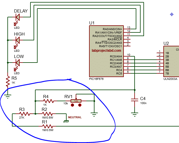 microcontroller based voltage stabilizer circuit