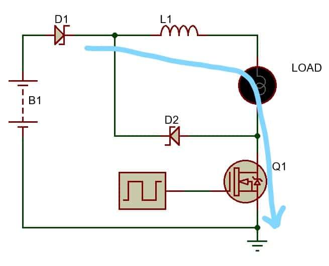 BUCK converter using low side N-Channel MOSFET