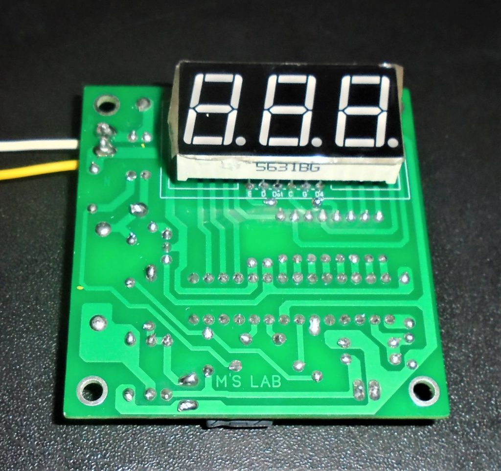 microcontroller based voltmeter.