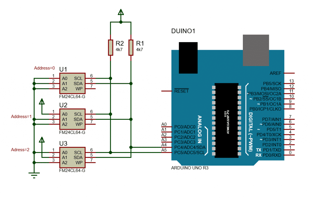 external EEPROM with Arduino Uno
