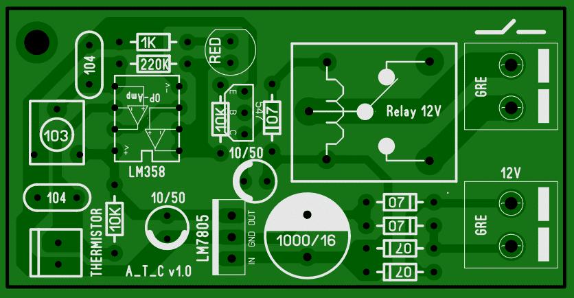 analog Temperature controller PCB