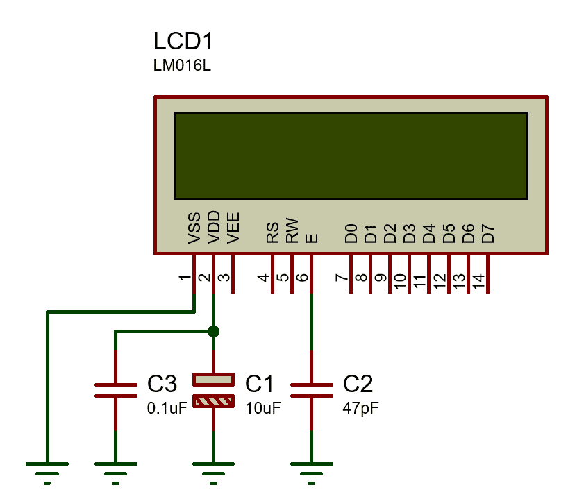 junk character on lcd